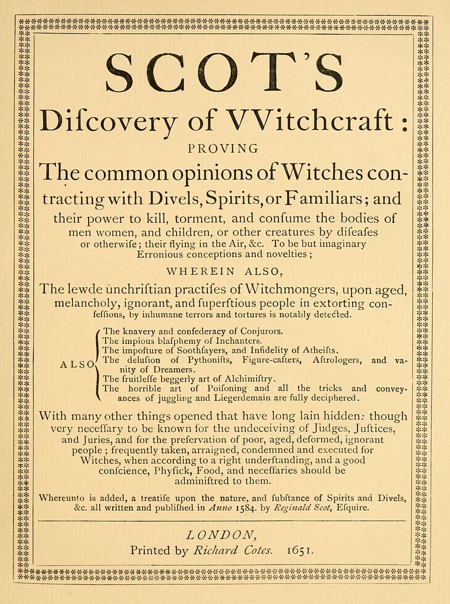 Page from Discoverie of Witchcraft