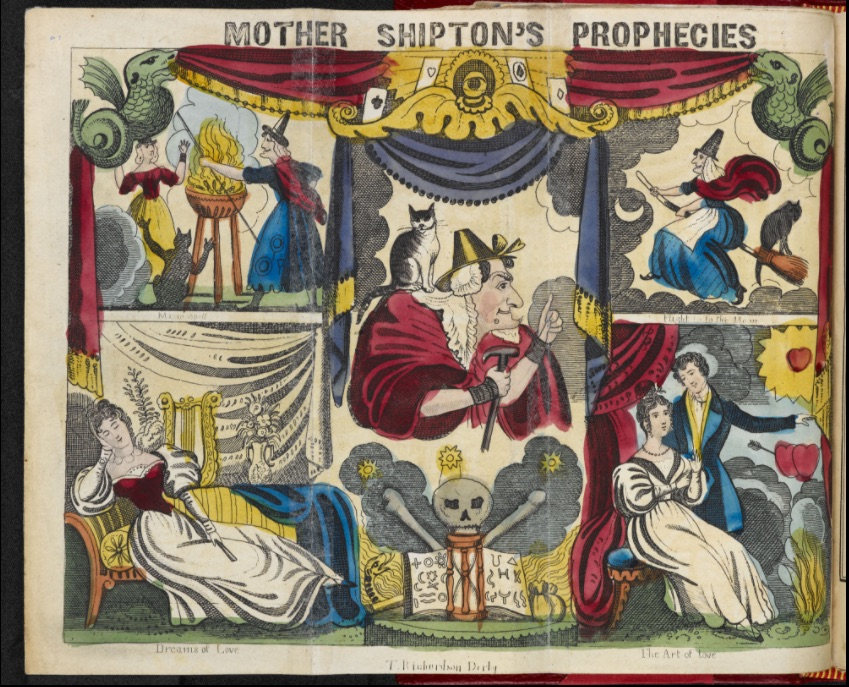 Inside Cover of Mother Shipton's Wheel of Fortune