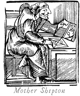 Woodcut depicting Mother Shipton